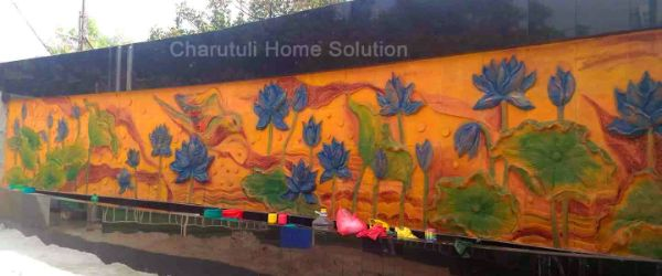 Floral Wall Terracotta Designs Bangladesh- Charutuli Home Solution