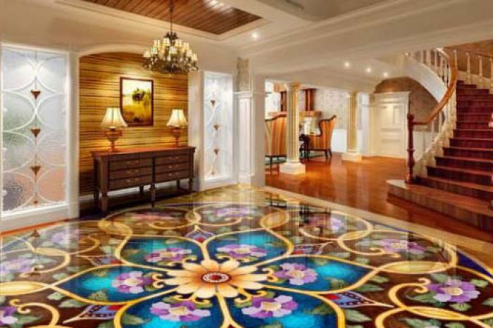 Modern Floral 3 D Floor Designs Bangladesh - Charutuli Home Solutions