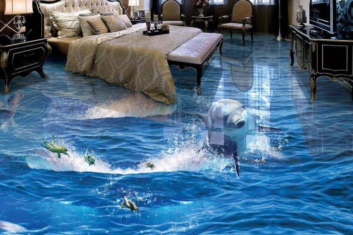 3D Aqua Floor Design Bangladesh -Charutuli Home Solutions