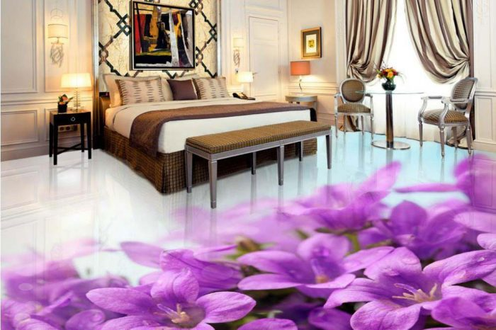 Bedroom Floral 3D Designs Bangladesh - Charutuli Home Solutions