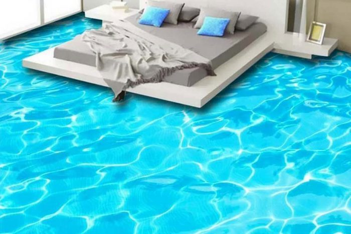 Blue Wave 3D Floor Design Bangladesh - Charutuli Home Solutions