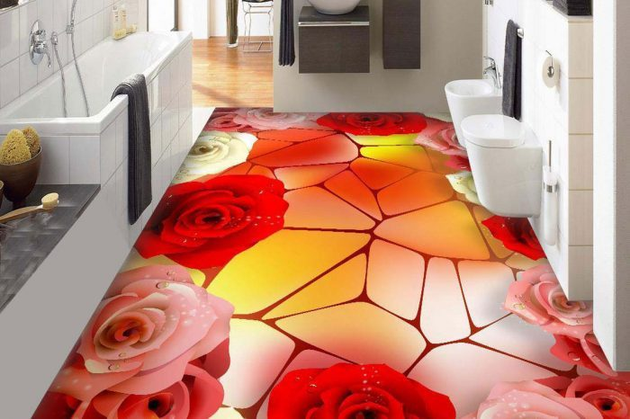 Floral 3D Floor Designs and Decorations Bangladesh - Charutuli Home Solutions