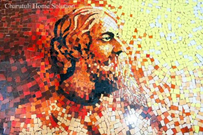 Rabindranath Tagore Mural Designs Bangladesh - Charutuli Home Solution